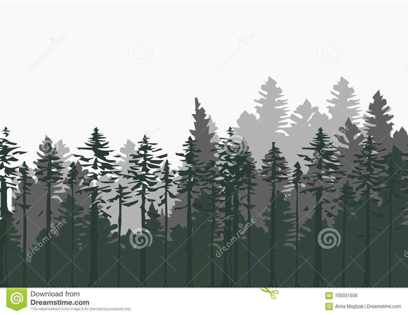 vintage forest design template vector illustration stock vector