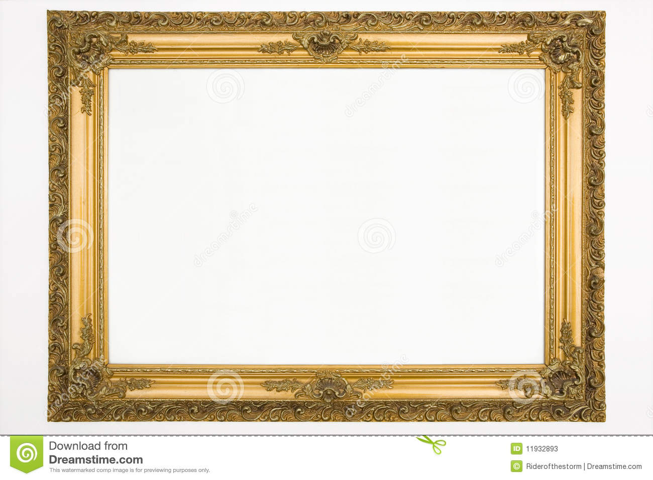 Vintage frame stock image image of decoration antique for How to make vintage frames