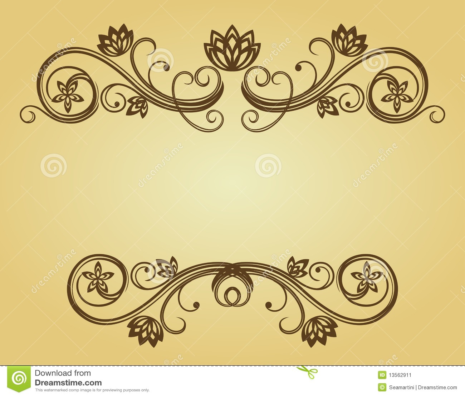 Vintage frame stock image image 13562911 for Antique style decoration