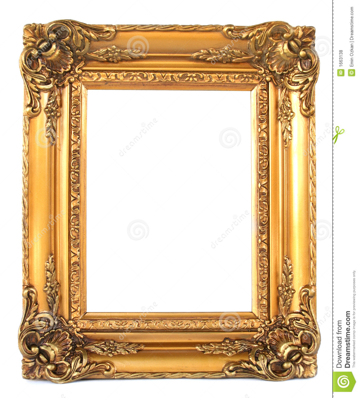 vintage frame stock photo image of blank goldy wood