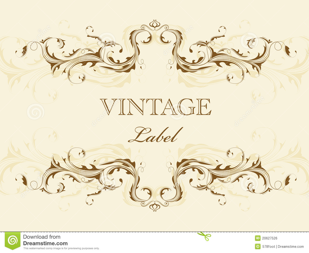 Vintage frame stock vector. Illustration of abstract - 20627526