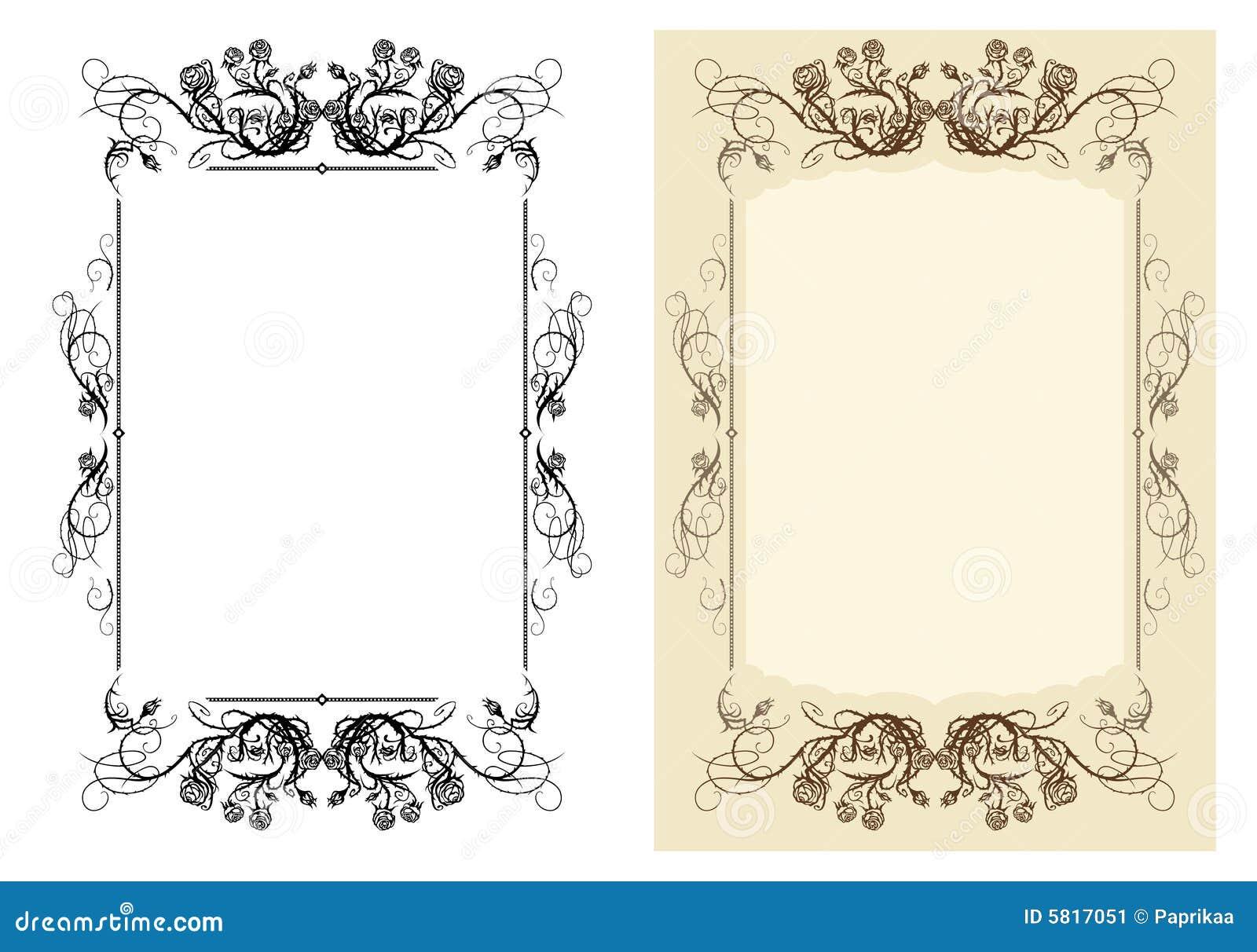 Vintage frame stock vector. Illustration of revival, fashioned - 5817051