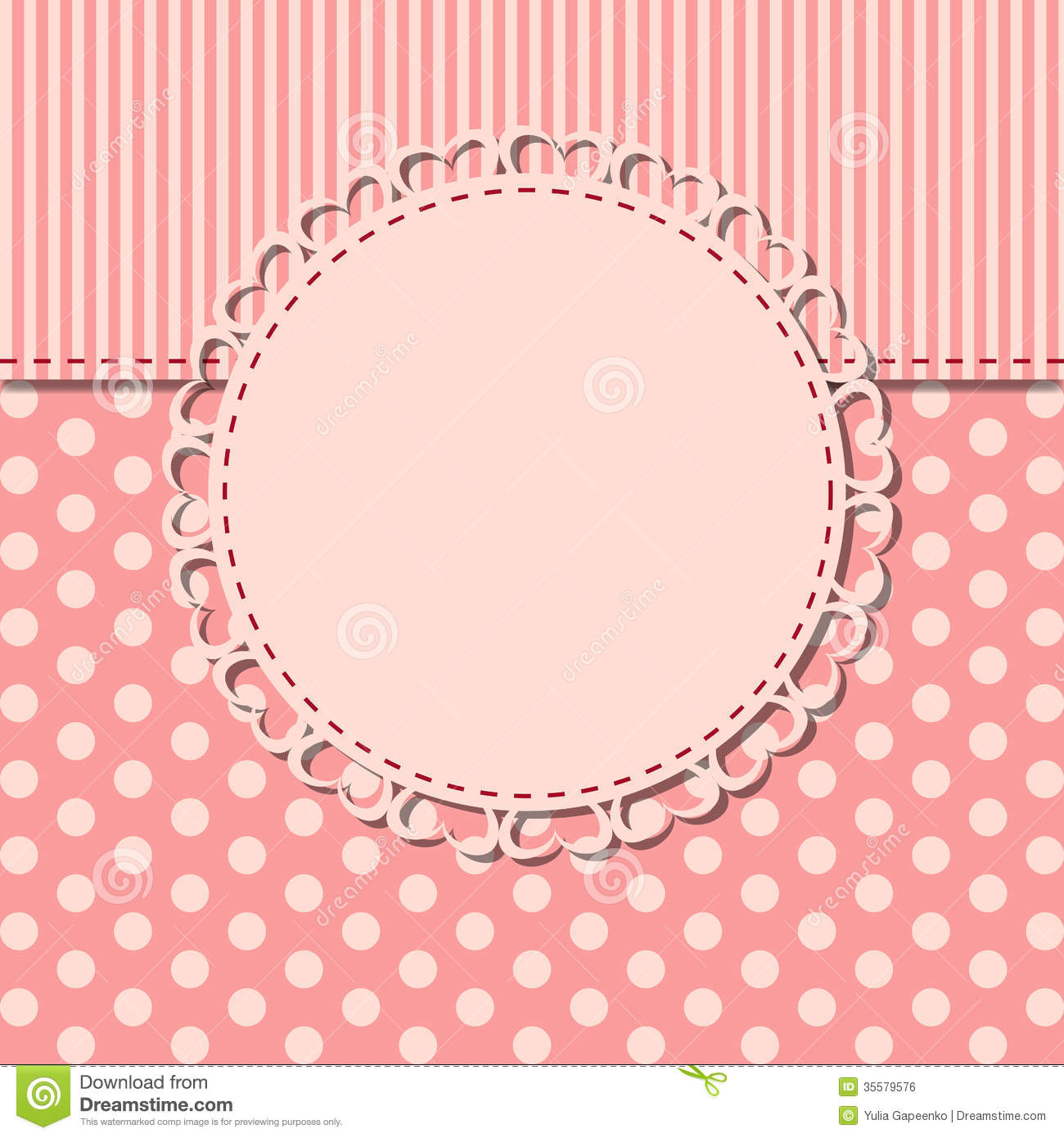 Vintage Frame With Bow Vector Illustration Stock Photo