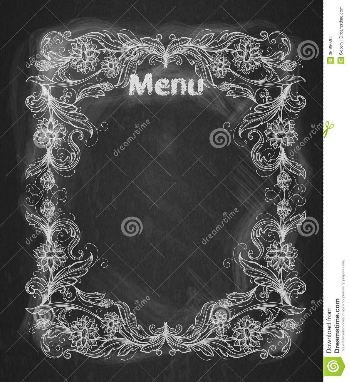 vintage frame on the chalkboard stock images - Decorative Chalkboards