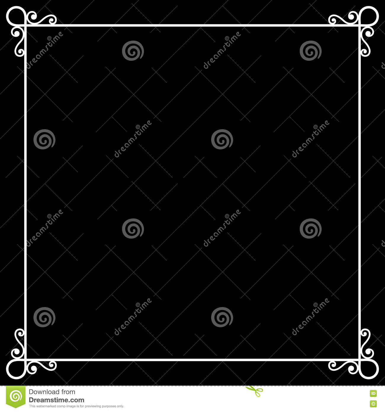 vintage frame on chalkboard retro background for stock