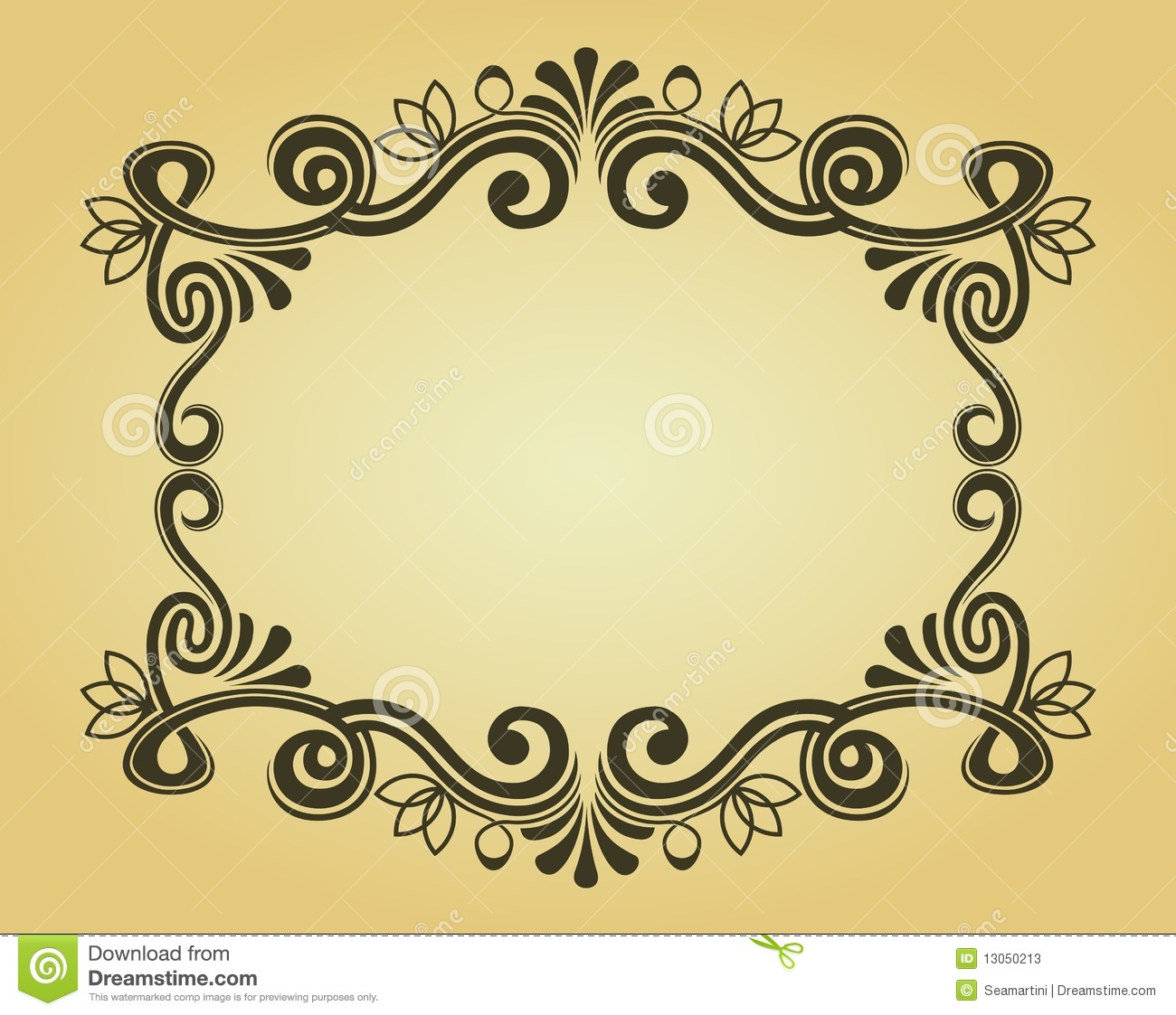 Vintage frame for design stock vector Illustration of elegance