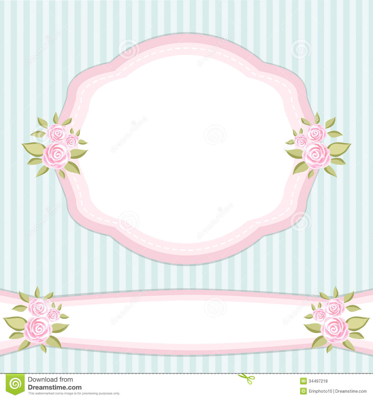 Vintage Frame 2 Stock Vector Illustration Of Blossom 34497218