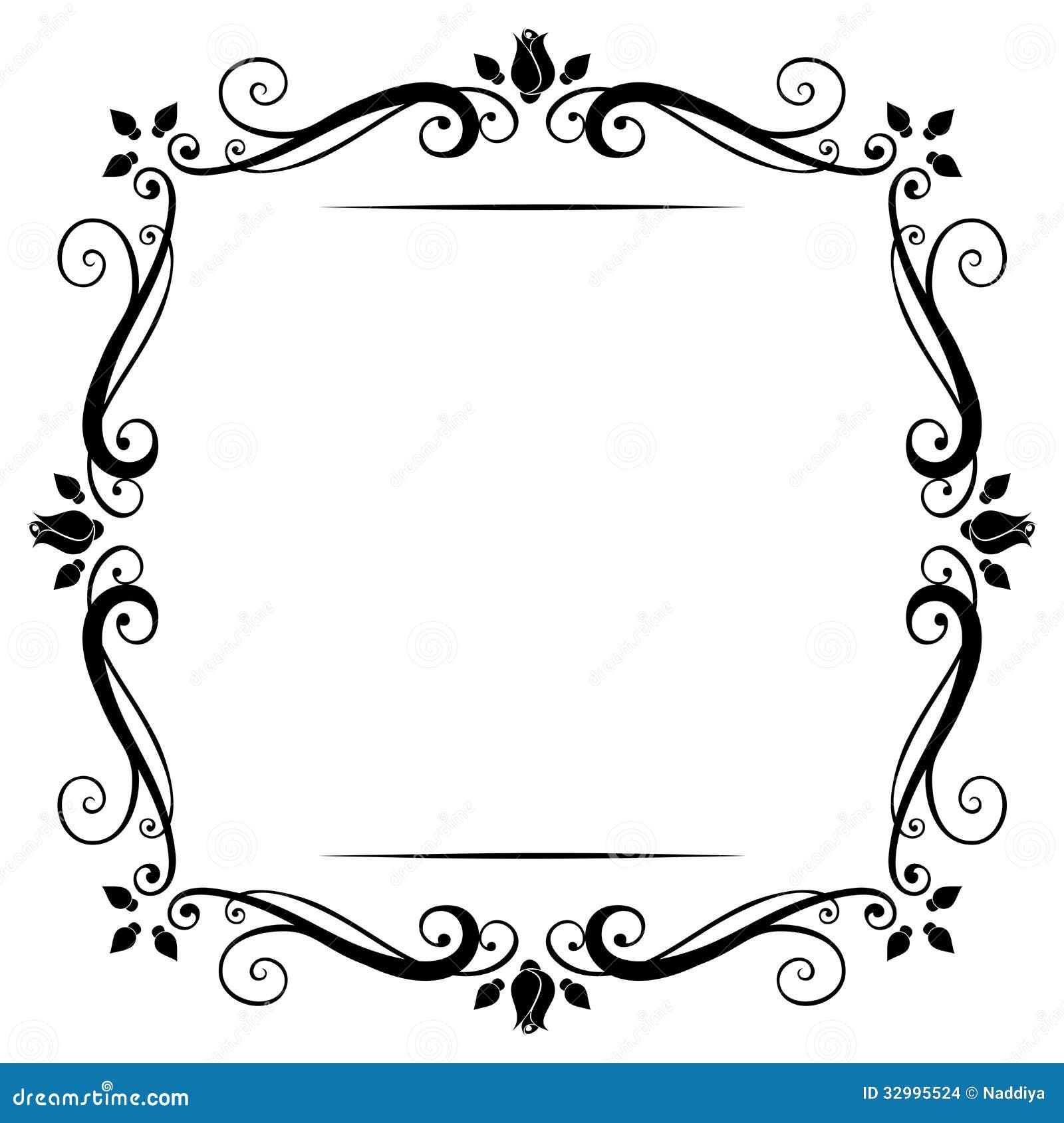 vintage frame stock vector illustration of nature flourish clip art png flourish clip art free download brown