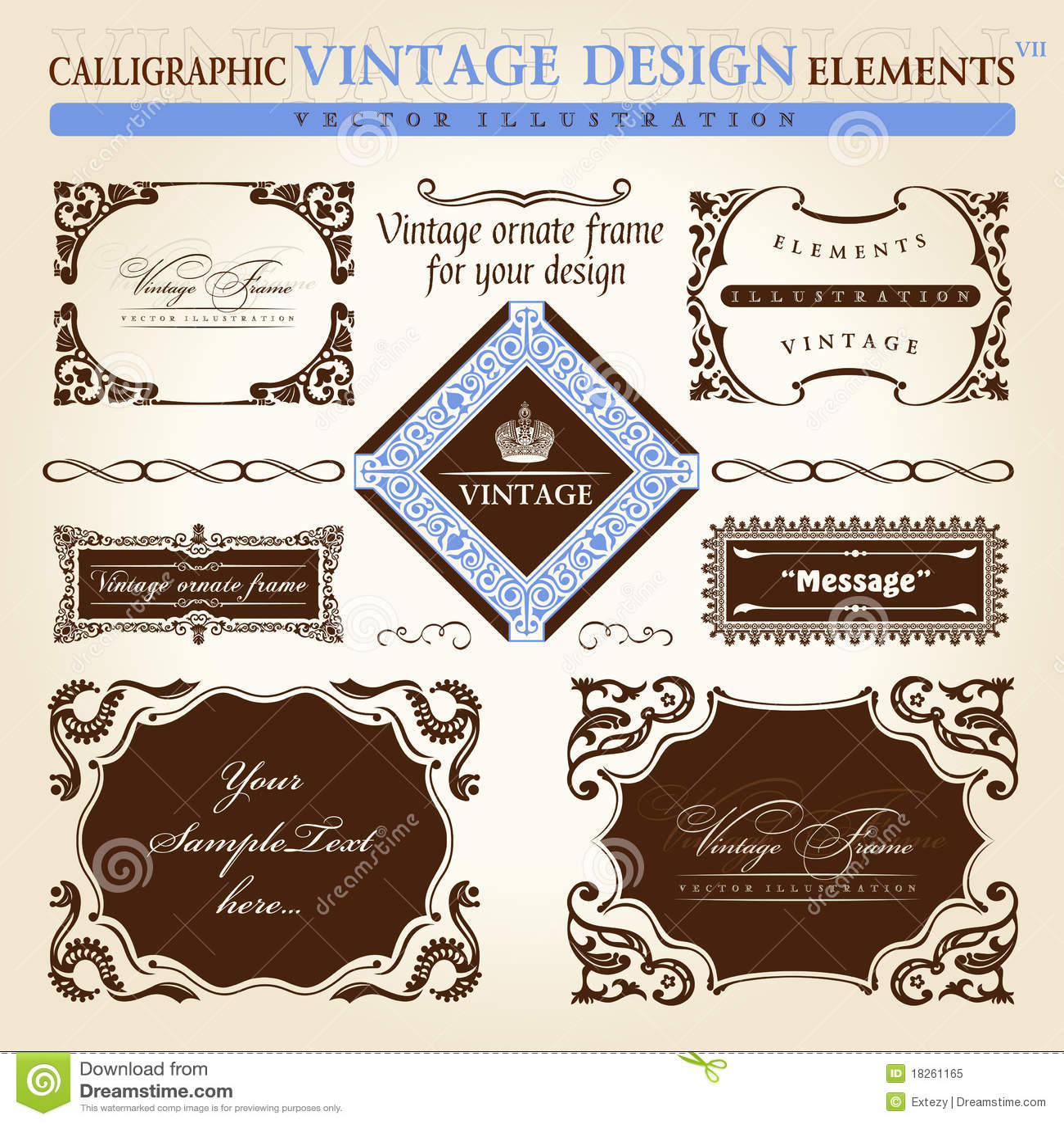 Download free vintage ornaments vintage ornaments and iders - Element Frame Ornament Set Text Vintage