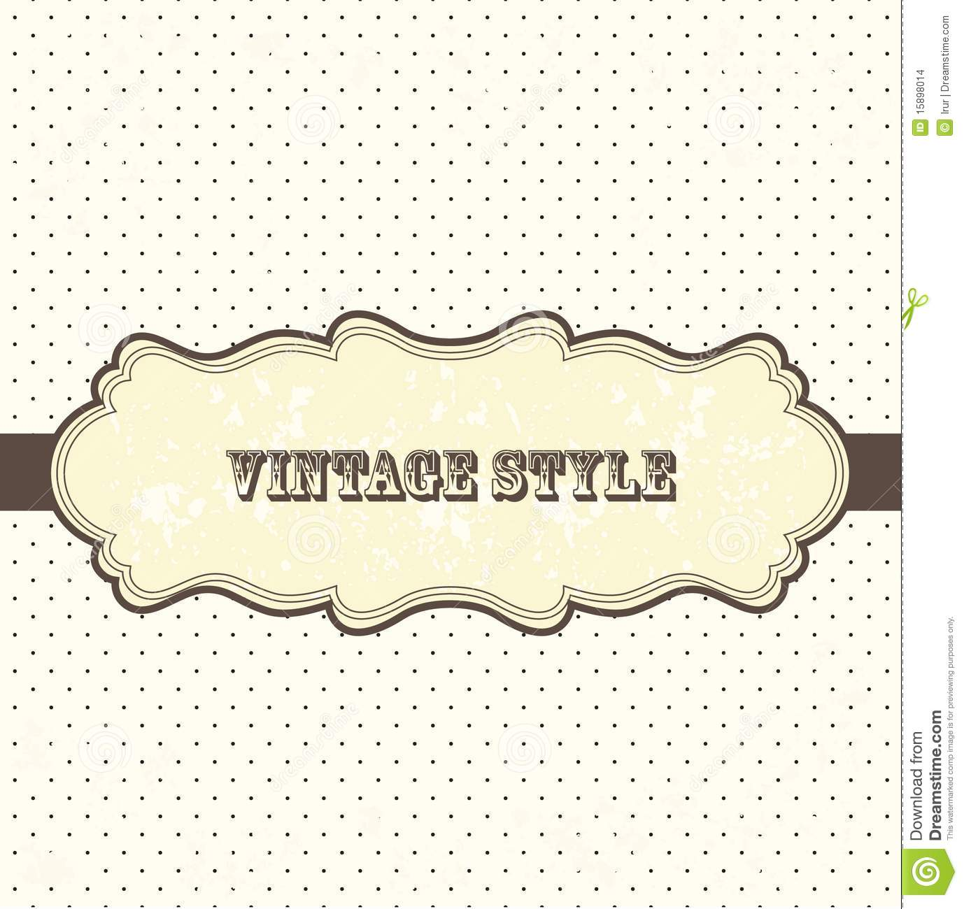 Vintage Frame With Polka Dot Stock Vector - Illustration of icon ...