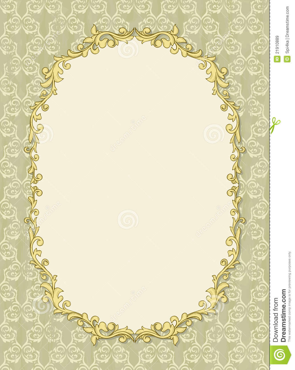 Vintage Frame With Shadow On Seamless Wallpaper Stock Vector ...