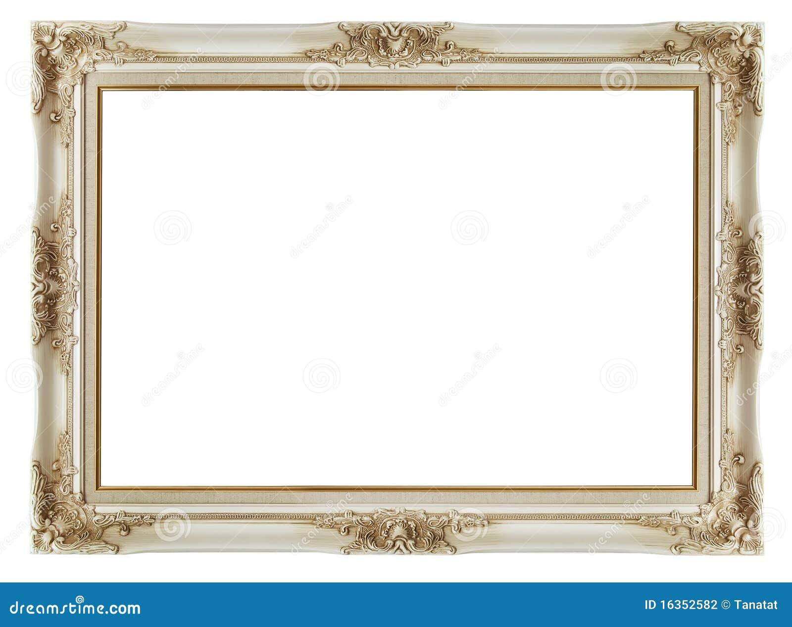 Vintage Frame On White Background Stock Photography ...
