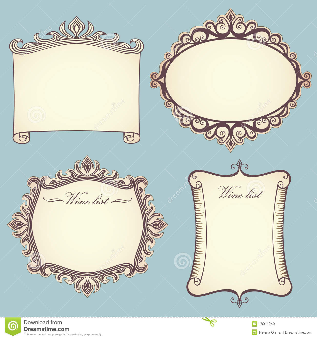 Vintage frames royalty free stock images image 18011249 for How to make vintage frames
