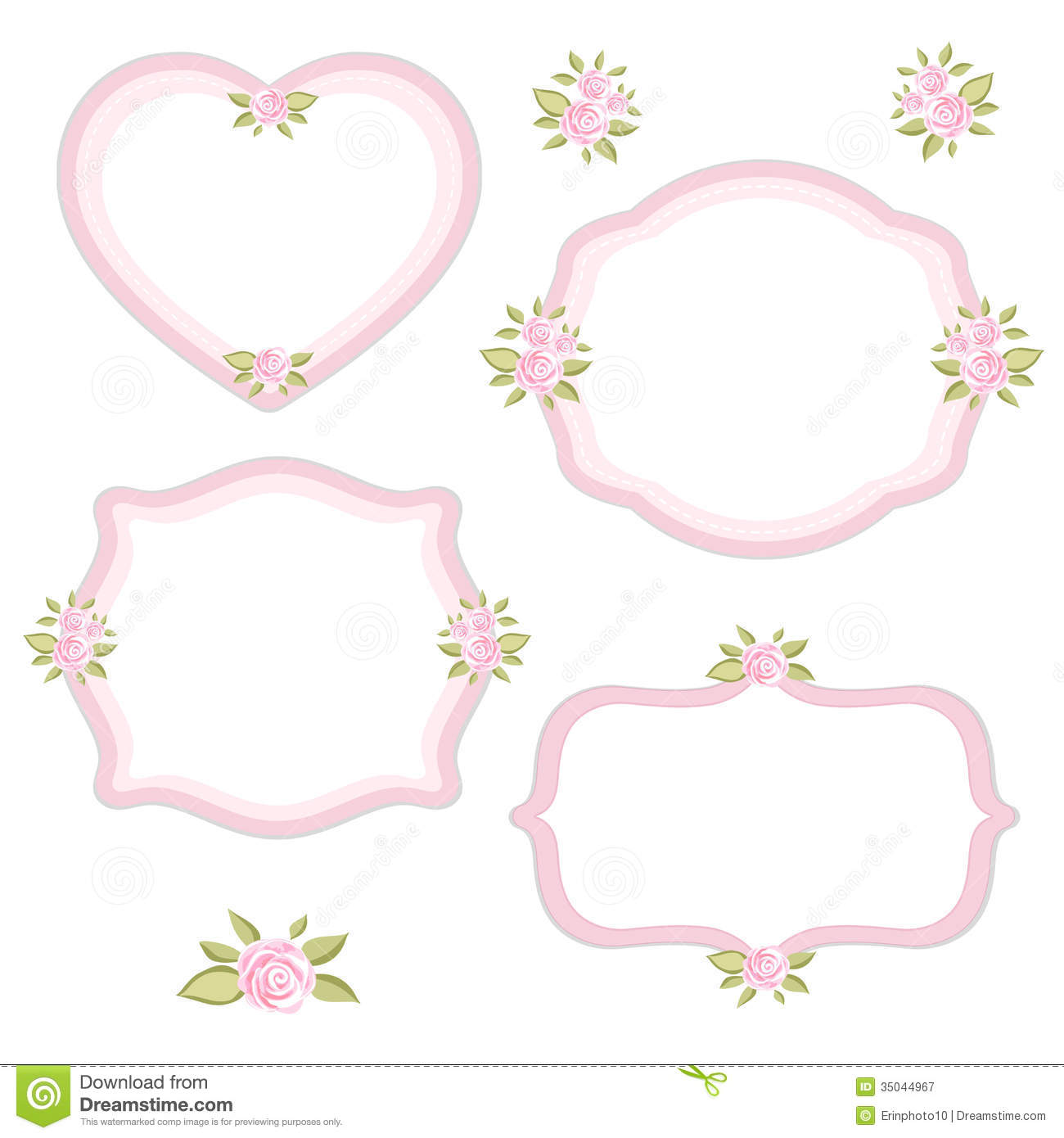 Vintage Frames Set 3 Stock Vector Illustration Of Ornament 35044967