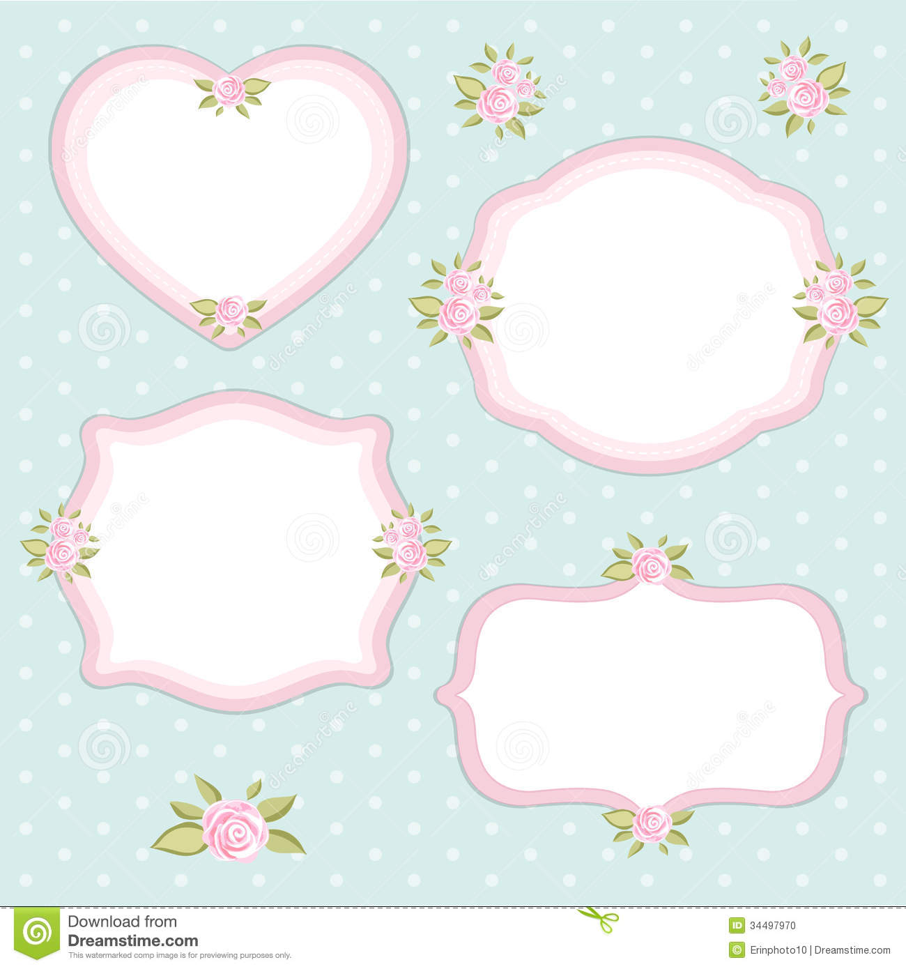 Vintage Frames Set Stock Vector Illustration Of Element 34497970