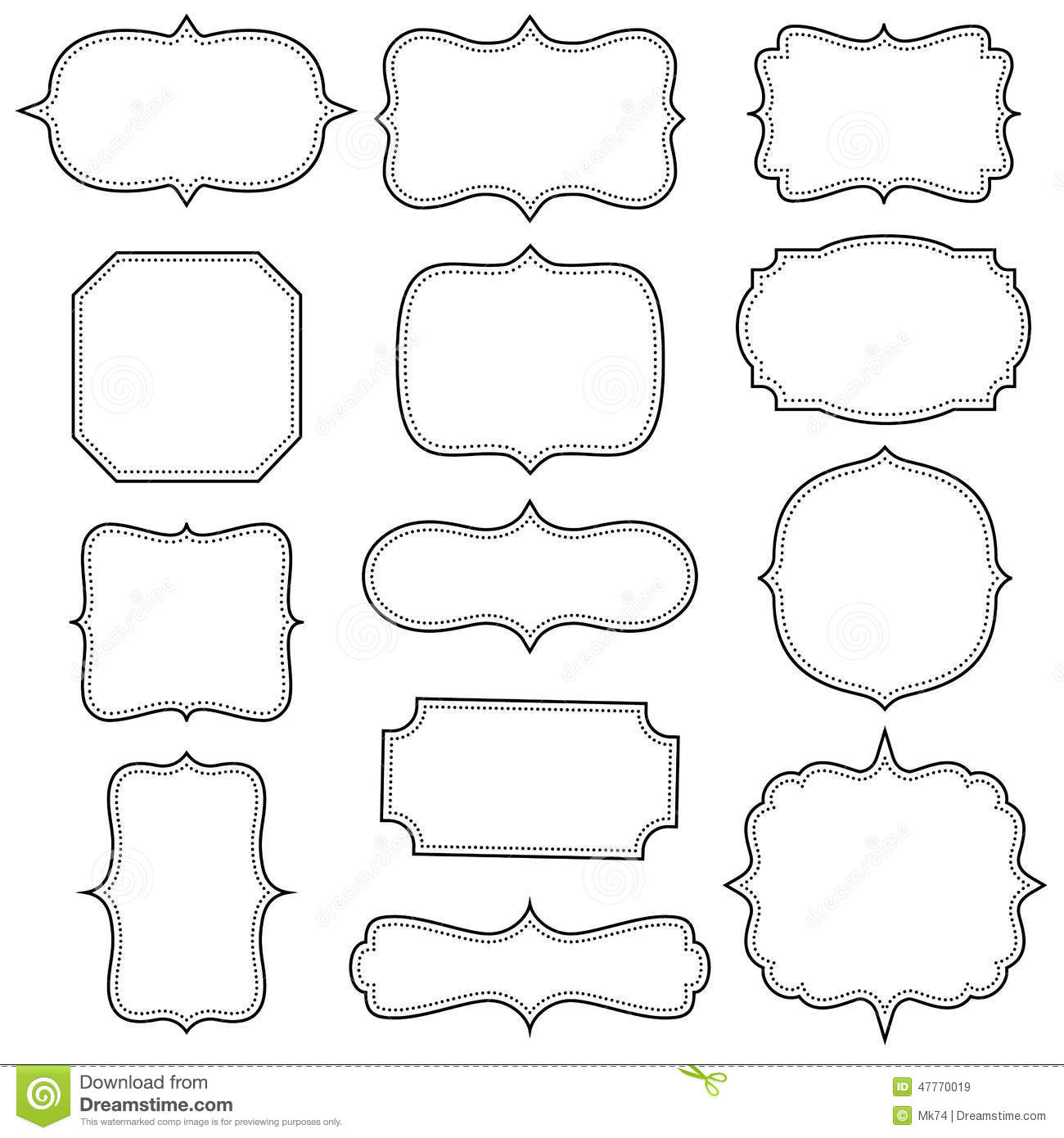 Vintage Frames Stock Vector Image Of Background Design