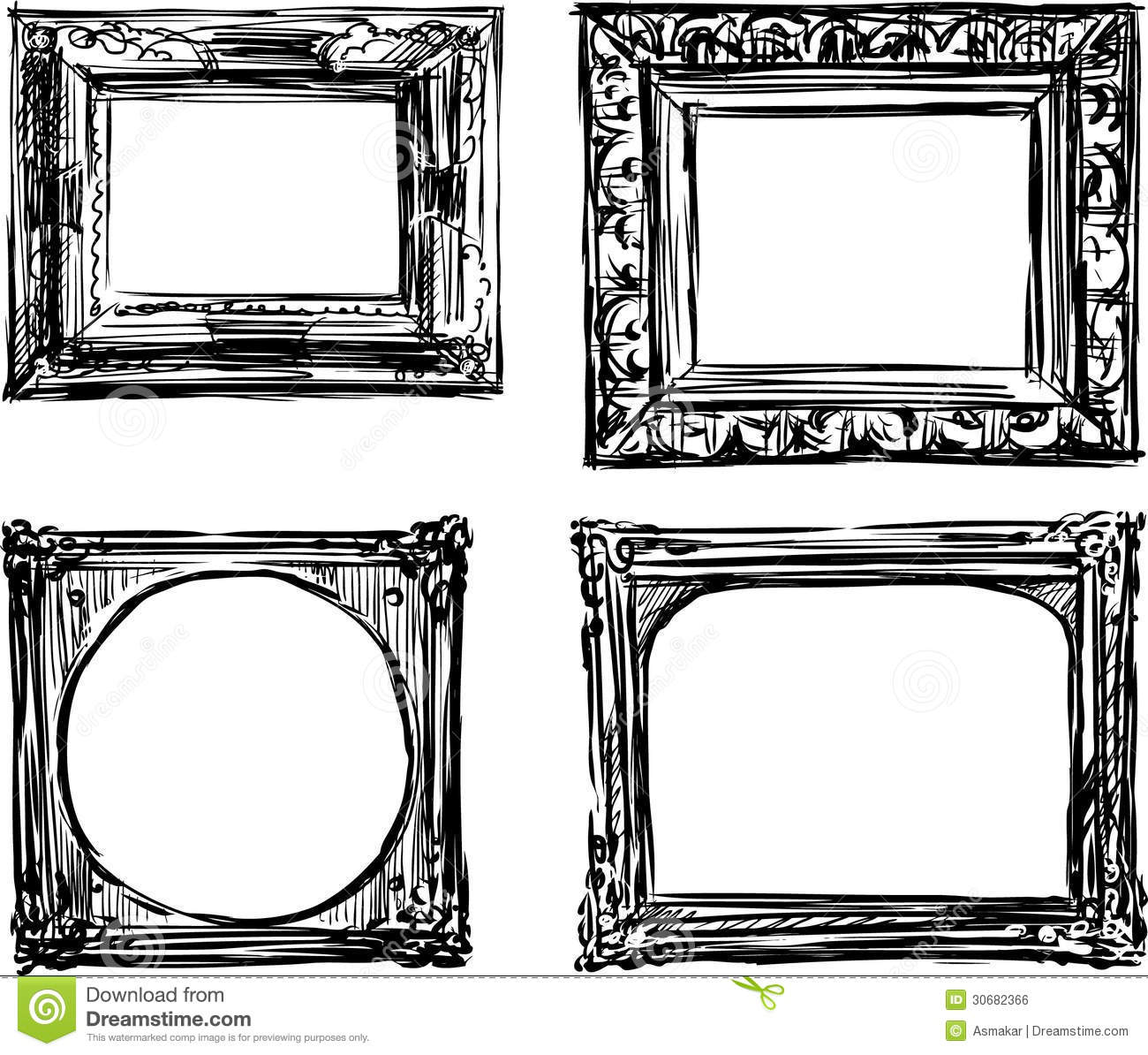 Vintage frames stock vector illustration of design for How to make vintage frames