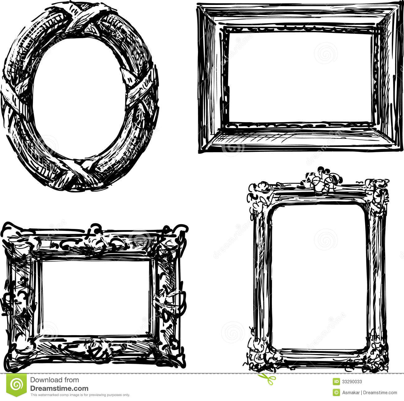 Vintage frames stock image. Image of picture, baroque ...