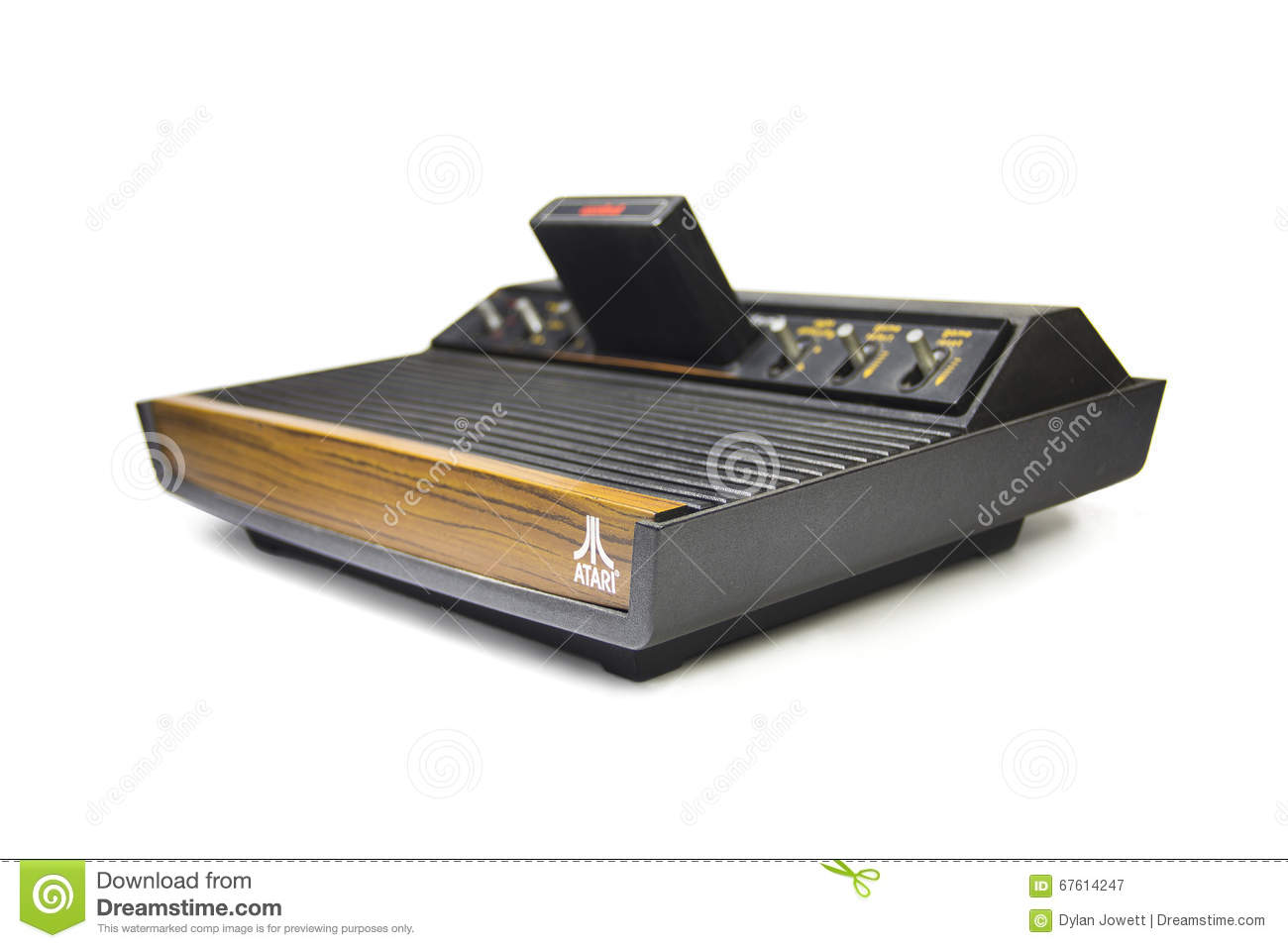 Vintage game console atari with game editorial photography image 67614247 - Original atari game console ...