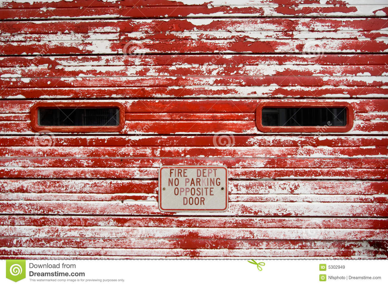 Vintage Garage Door With Peeling Red Paint Royalty Free Stock Images ...