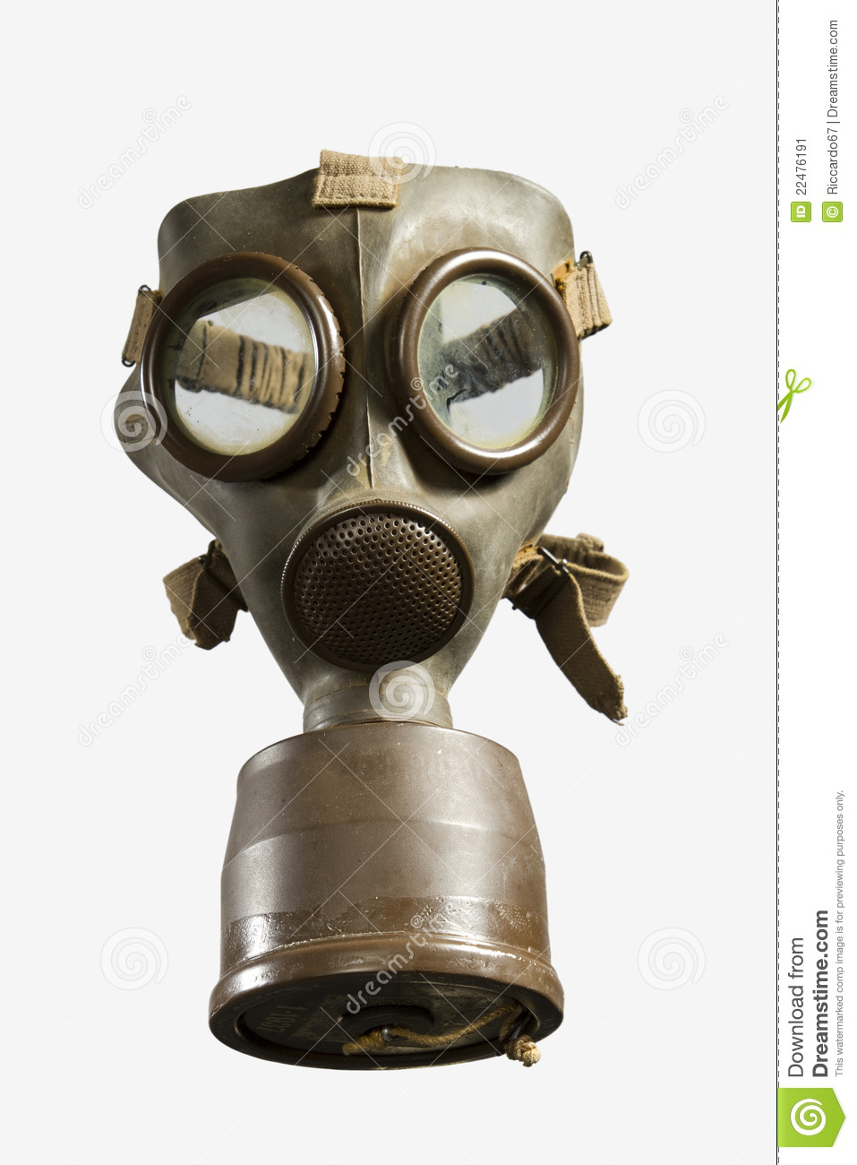 Vintage Gas Mask Isolated On White Background Stock Image