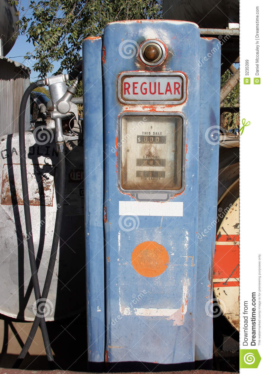 Vintage Gas Pump stock image  Image of djm4, automobile - 3235399