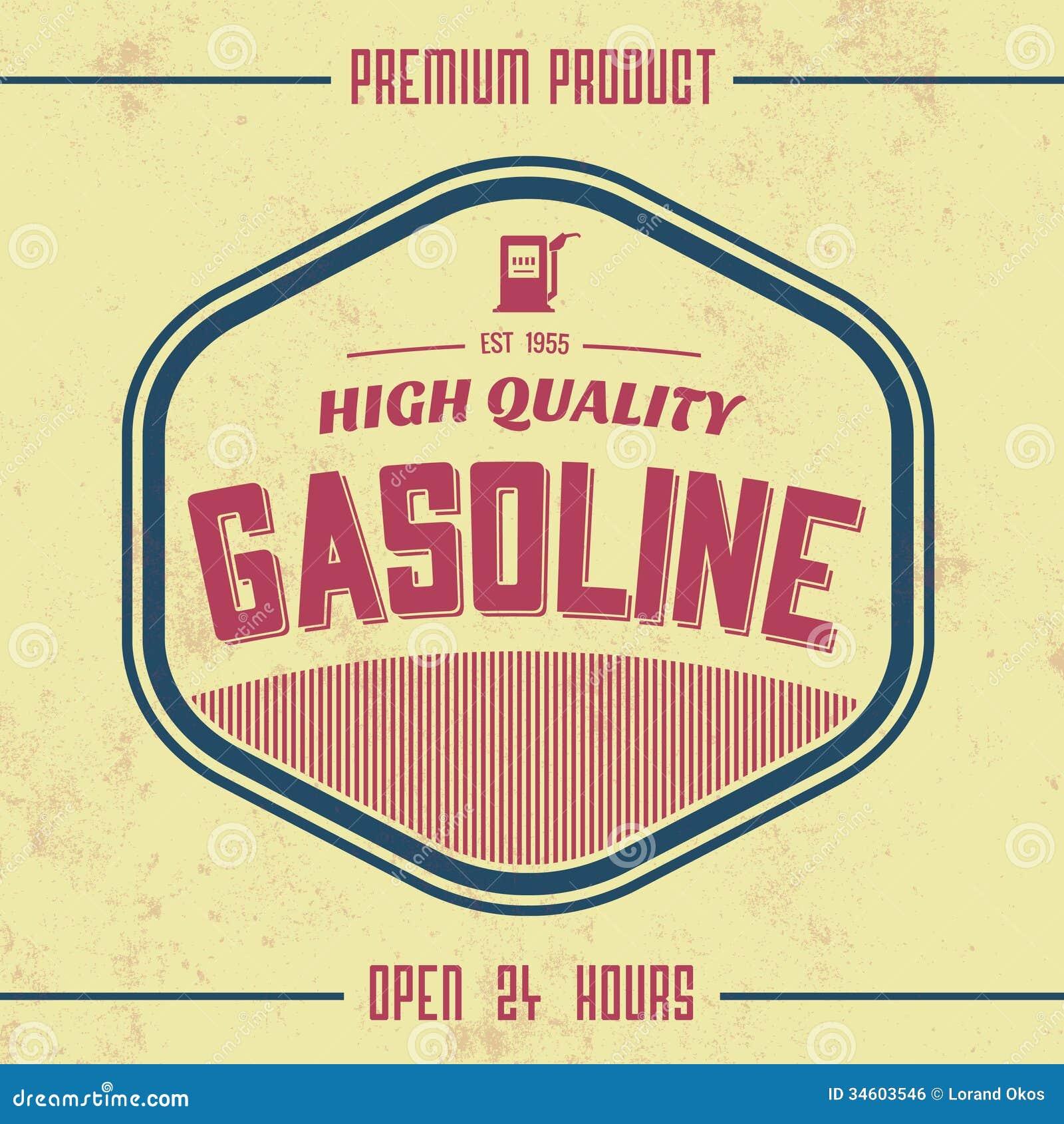 Vintage gasoline sign retro template stock vector image 34603546 vintage gasoline sign retro template pronofoot35fo Gallery
