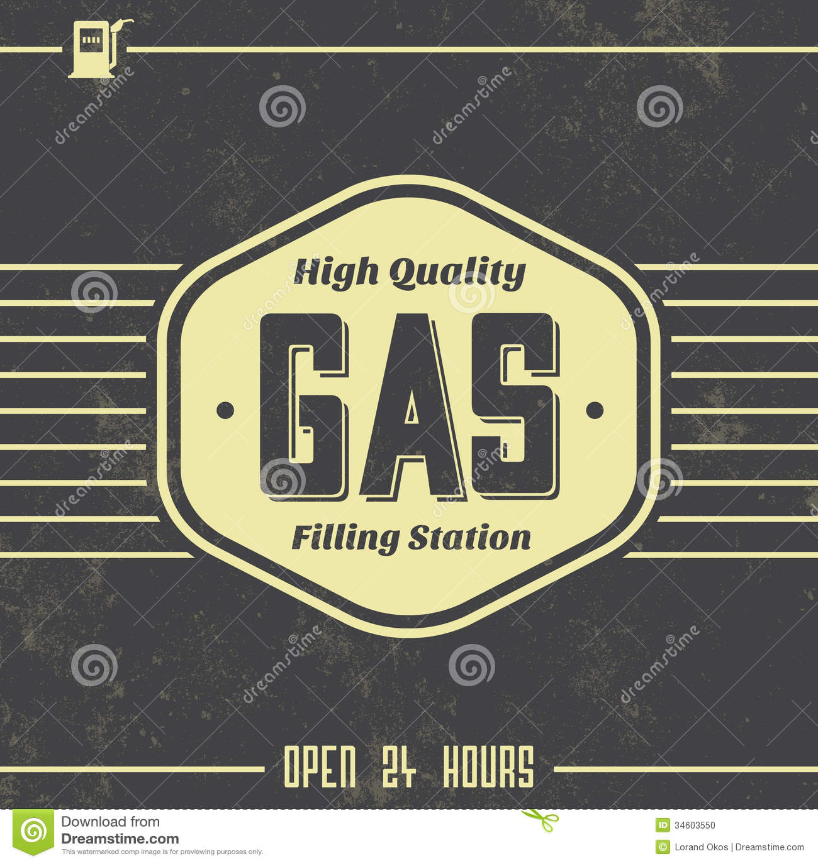 Vintage Gasoline Sign - Retro Template Stock Vector ...