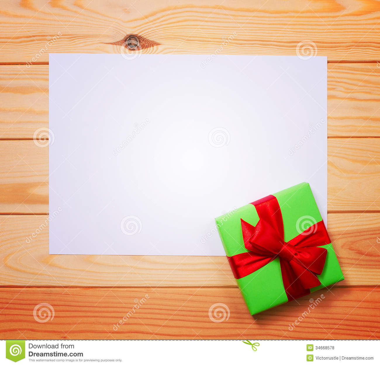 vintage gift box with blank tag stock photo  image of