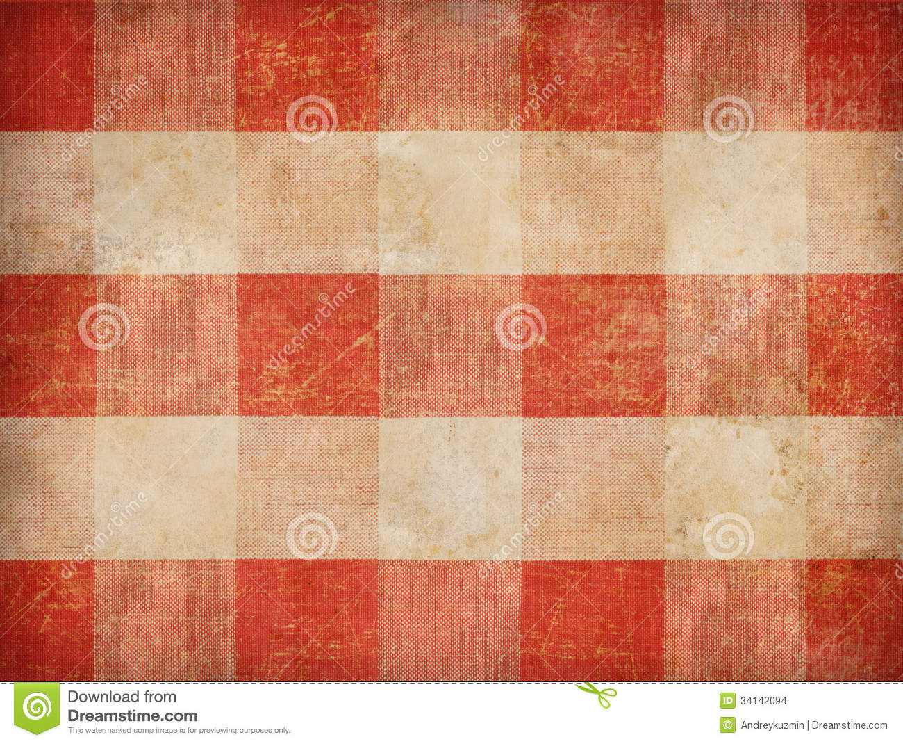 Royalty Free Stock Photo. Download Vintage Gingham Tablecloth ...