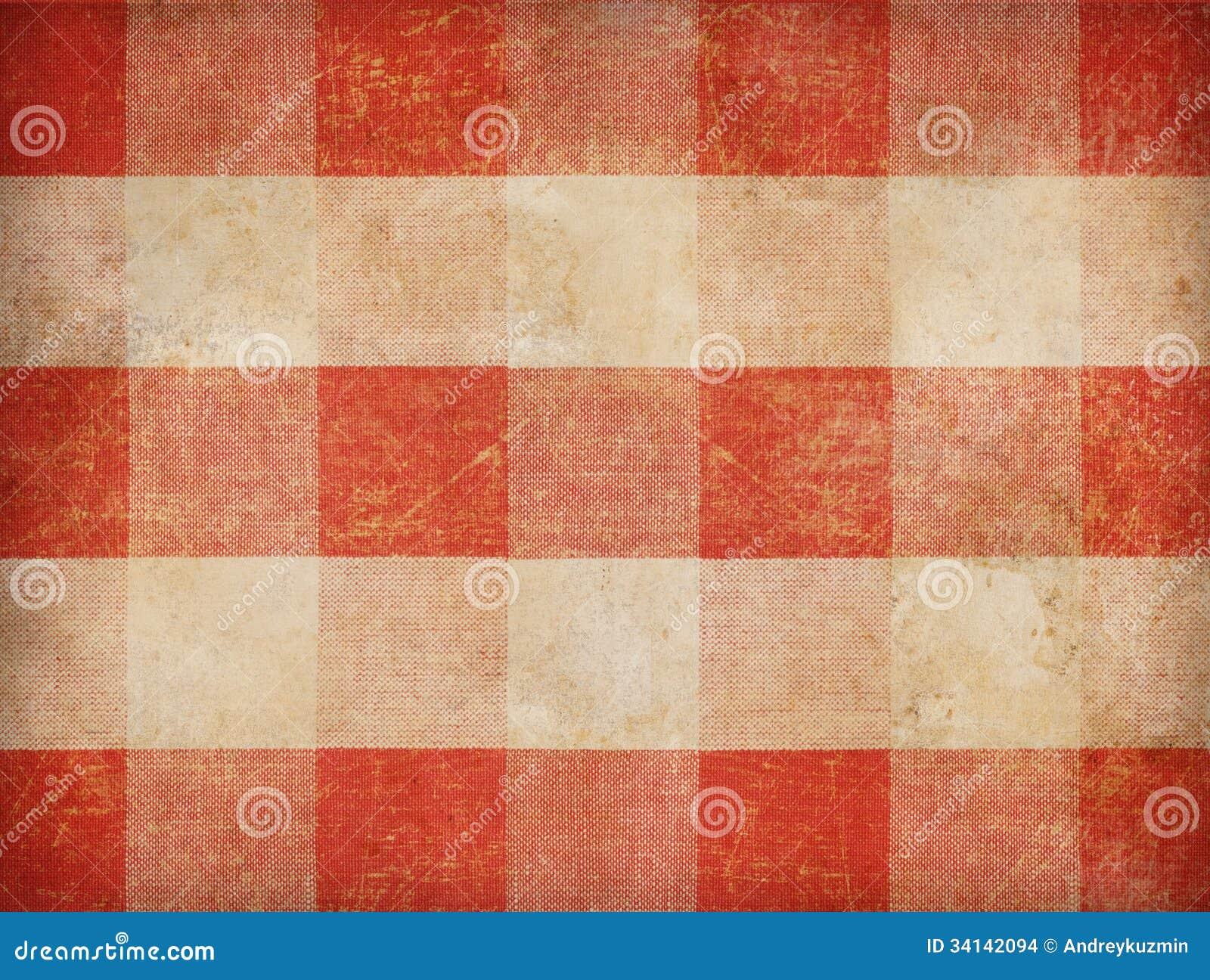 Vintage Gingham Tablecloth Background Stock Images - Image: 34142094