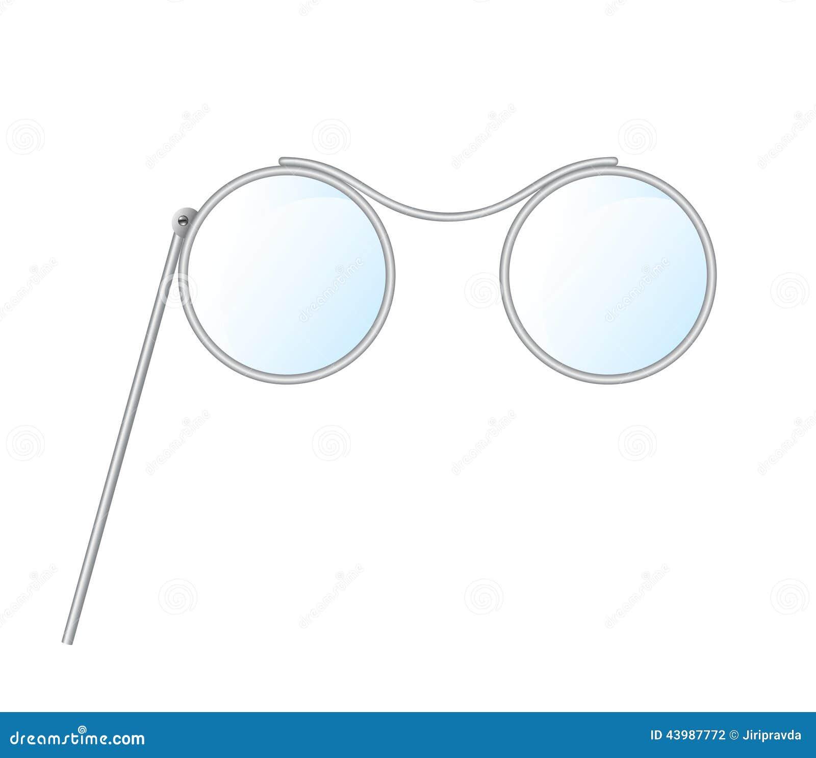 Vintage Glasses Pince Nez Stock Vector Illustration Of
