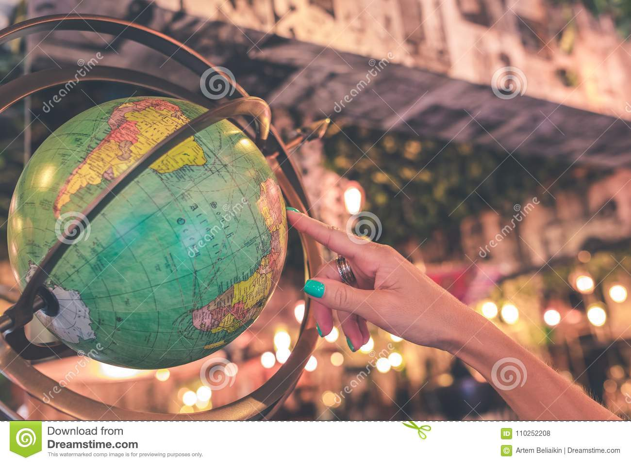 antique stores close by Woman Hand On Vintage Globe Close Up In The Antique Store On Bali  antique stores close by