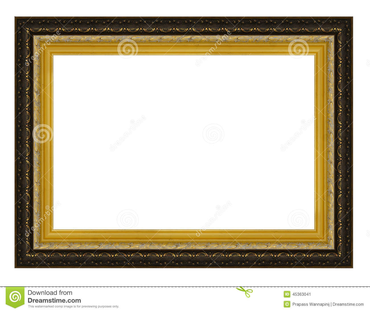 Vintage gold and black wooden picture frame stock image image of vintage gold and black wooden picture frame jeuxipadfo Image collections
