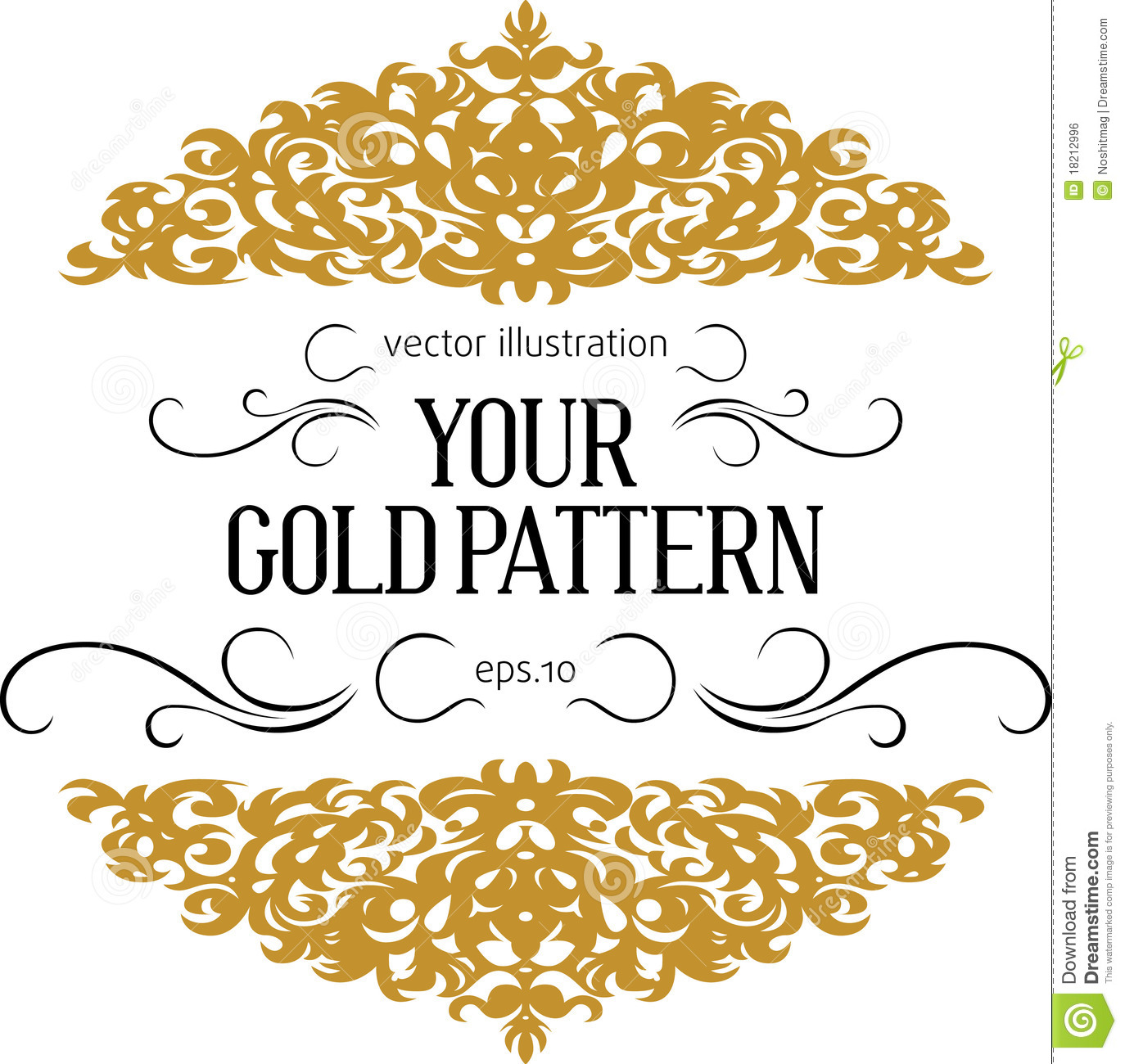 Vintage gold border stock vector  Illustration of golden