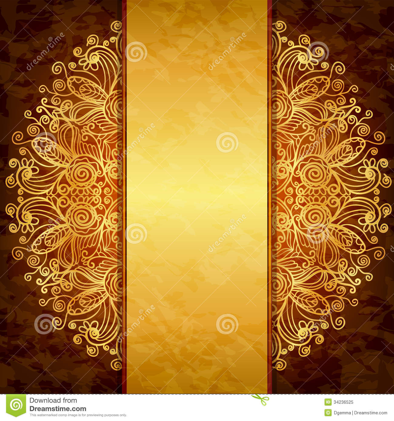 Vintage gold design. stock vector. Illustration of graphic - 34236525