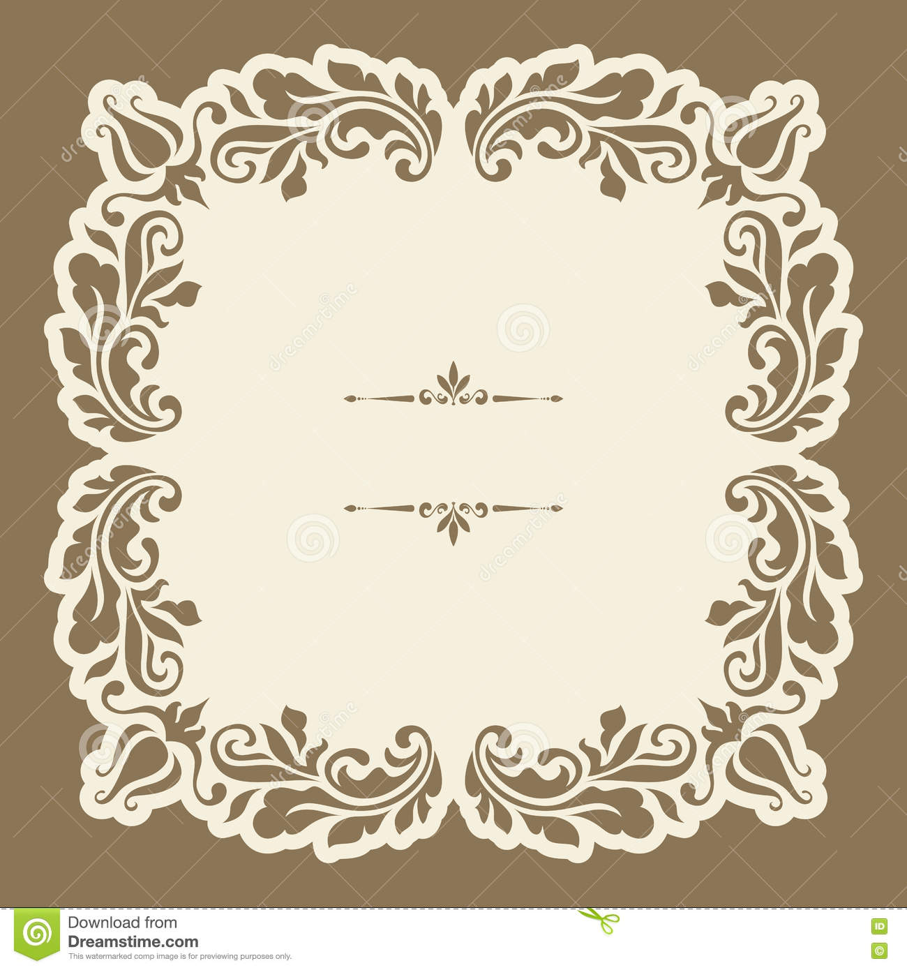 vintage gold ornamental square frame royalty free stock images