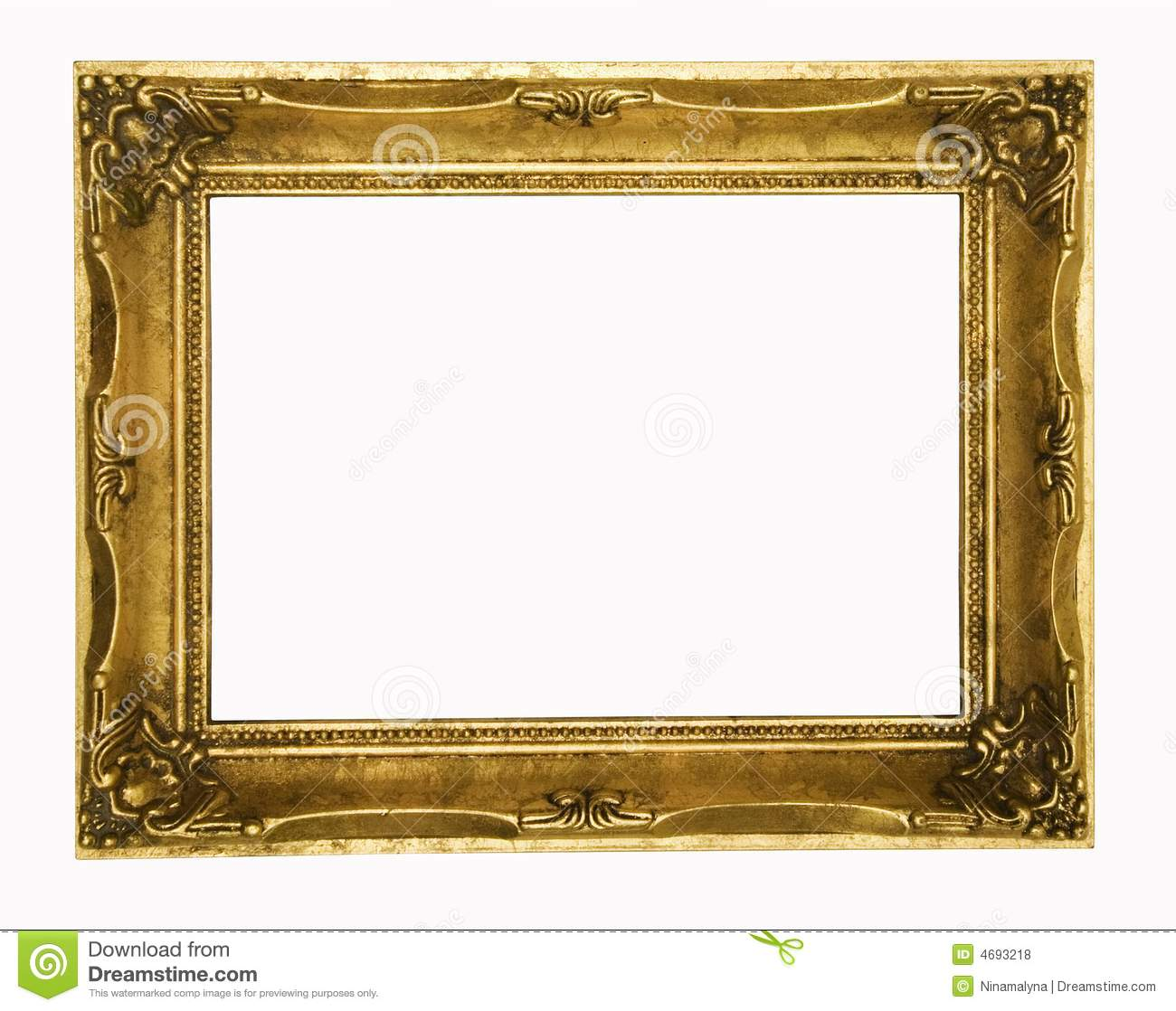 Vintage gold ornate picture frame