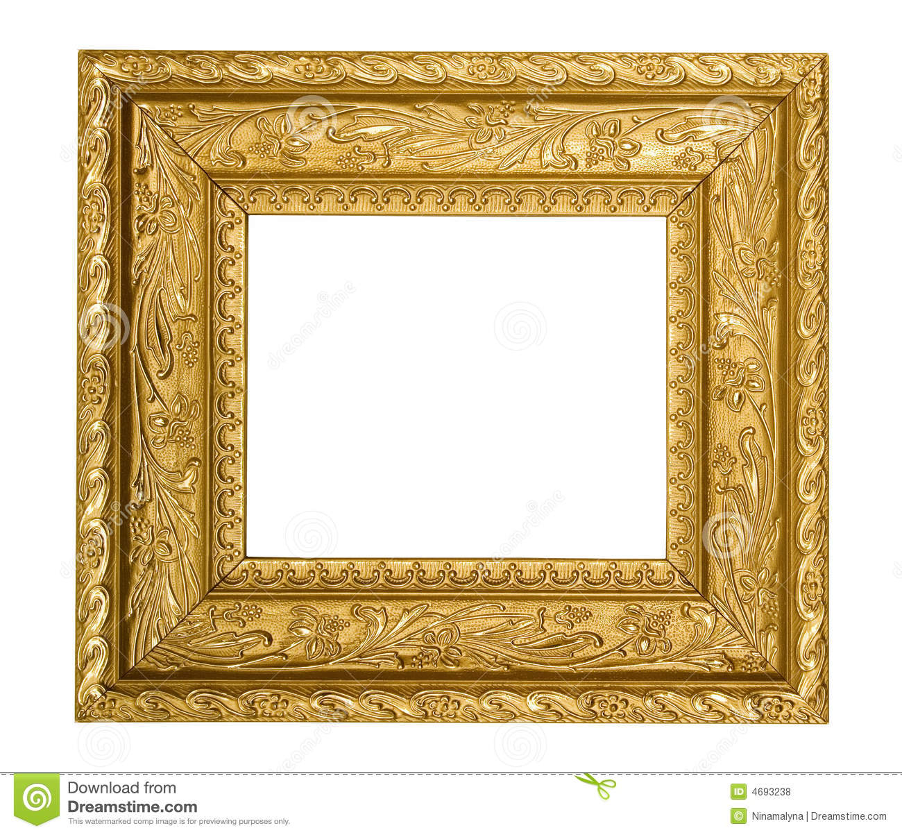 Vintage gold ornate picture frame stock photo image 4693238 for How to make vintage frames