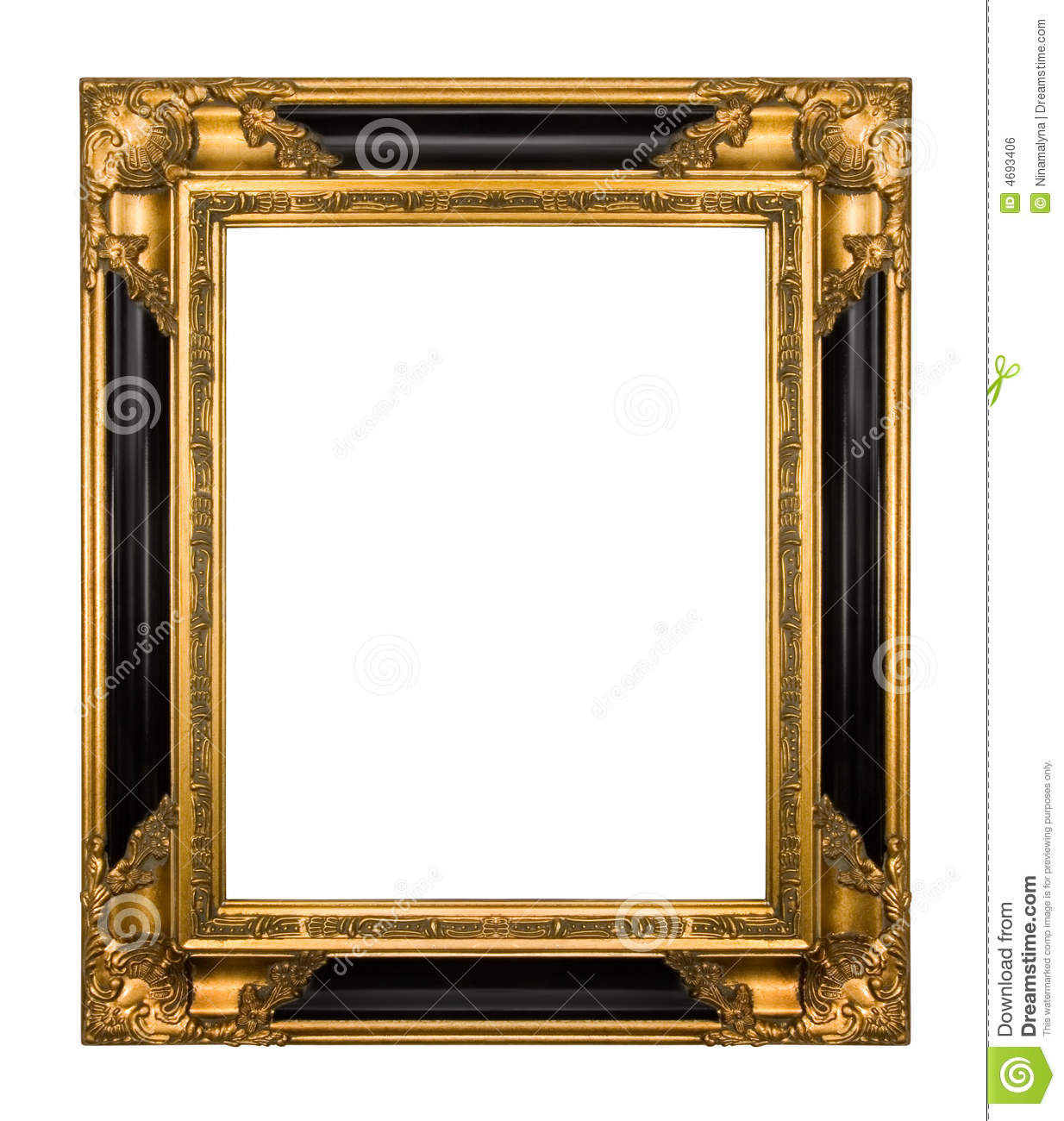 Vintage gold and piano black ornate frame stock photo image of vintage gold and piano black ornate frame jeuxipadfo Image collections