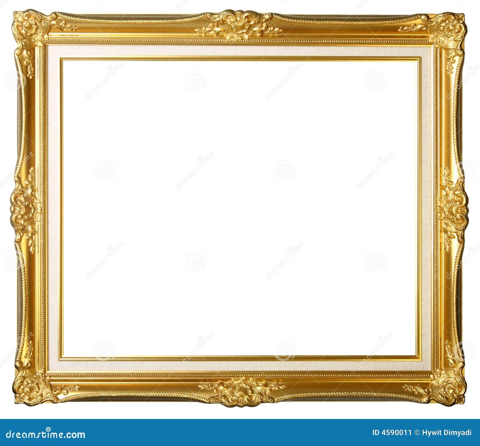 Vintage gold picture frame stock image image 4590011 for Old antique frames