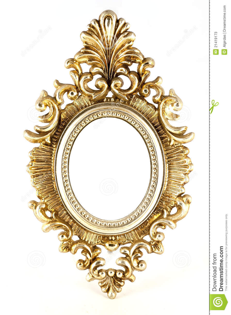 Vintage Gold Picture Round Frame Stock Photos Image