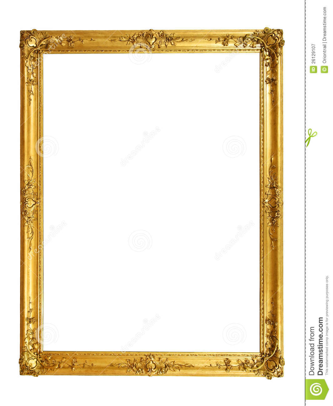 Vintage Golden Frame Royalty Free Stock Photography  Image: 26129107