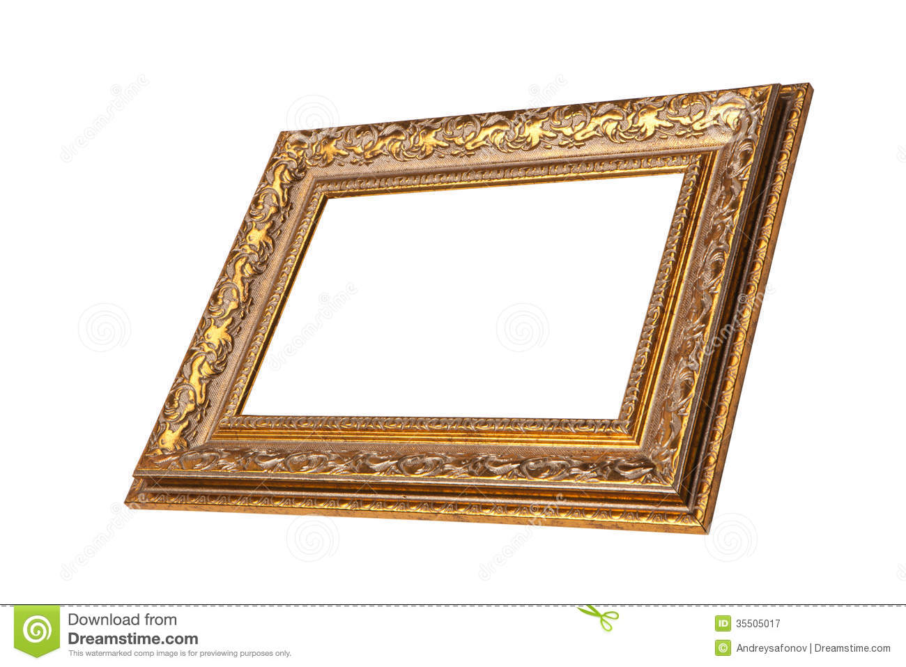 c04c1608a3e3 Vintage Golden Frame With Blank Space. Stock Image - Image of ...