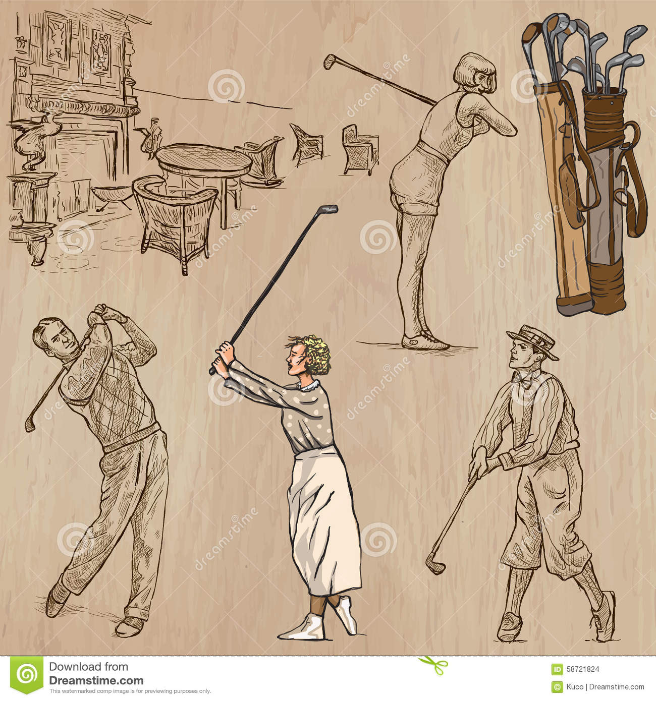 Vintage Golf Stock Images RoyaltyFree Images amp Vectors