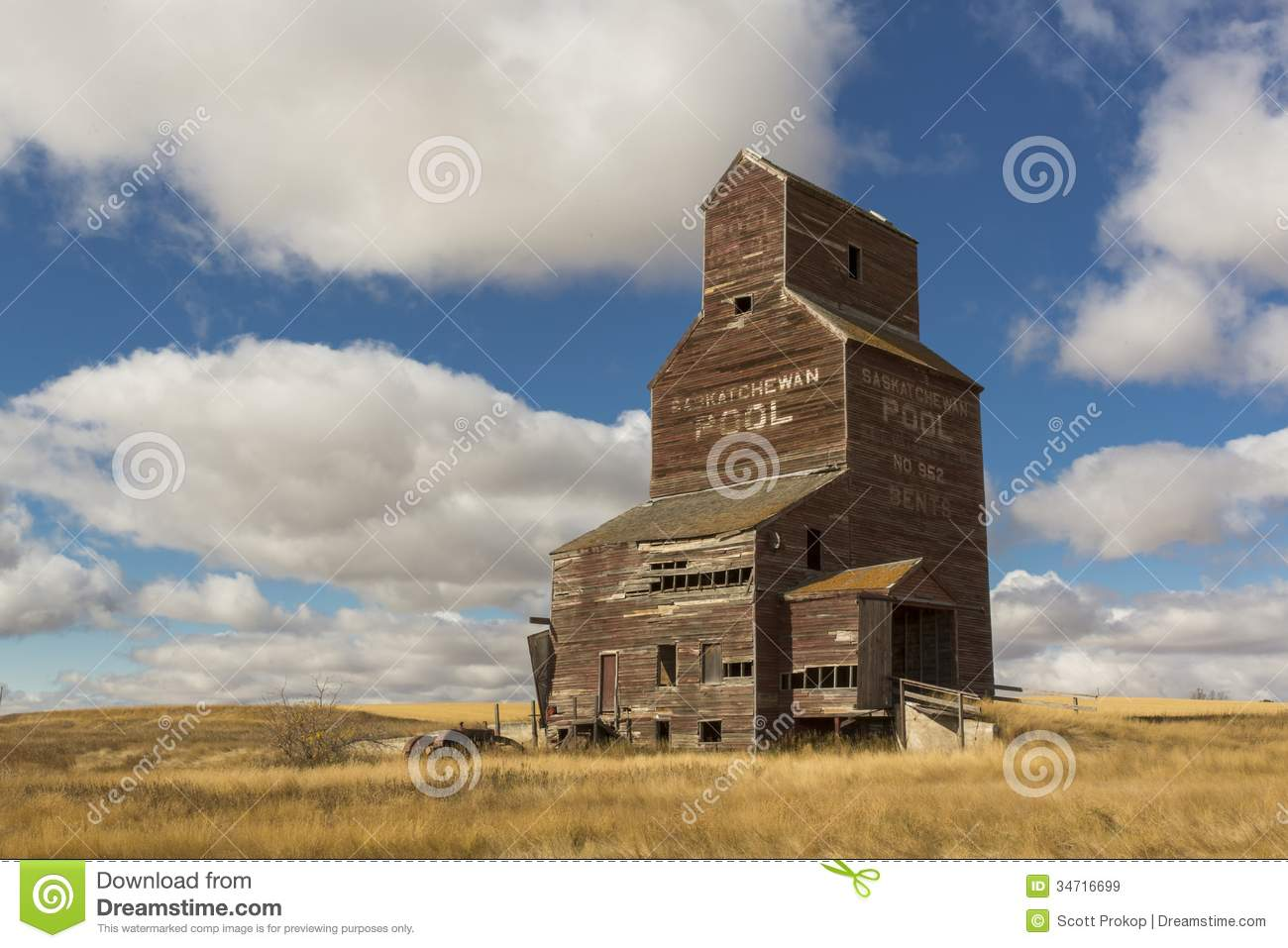 Vintage Grain Elevator Royalty Free Stock Images Image
