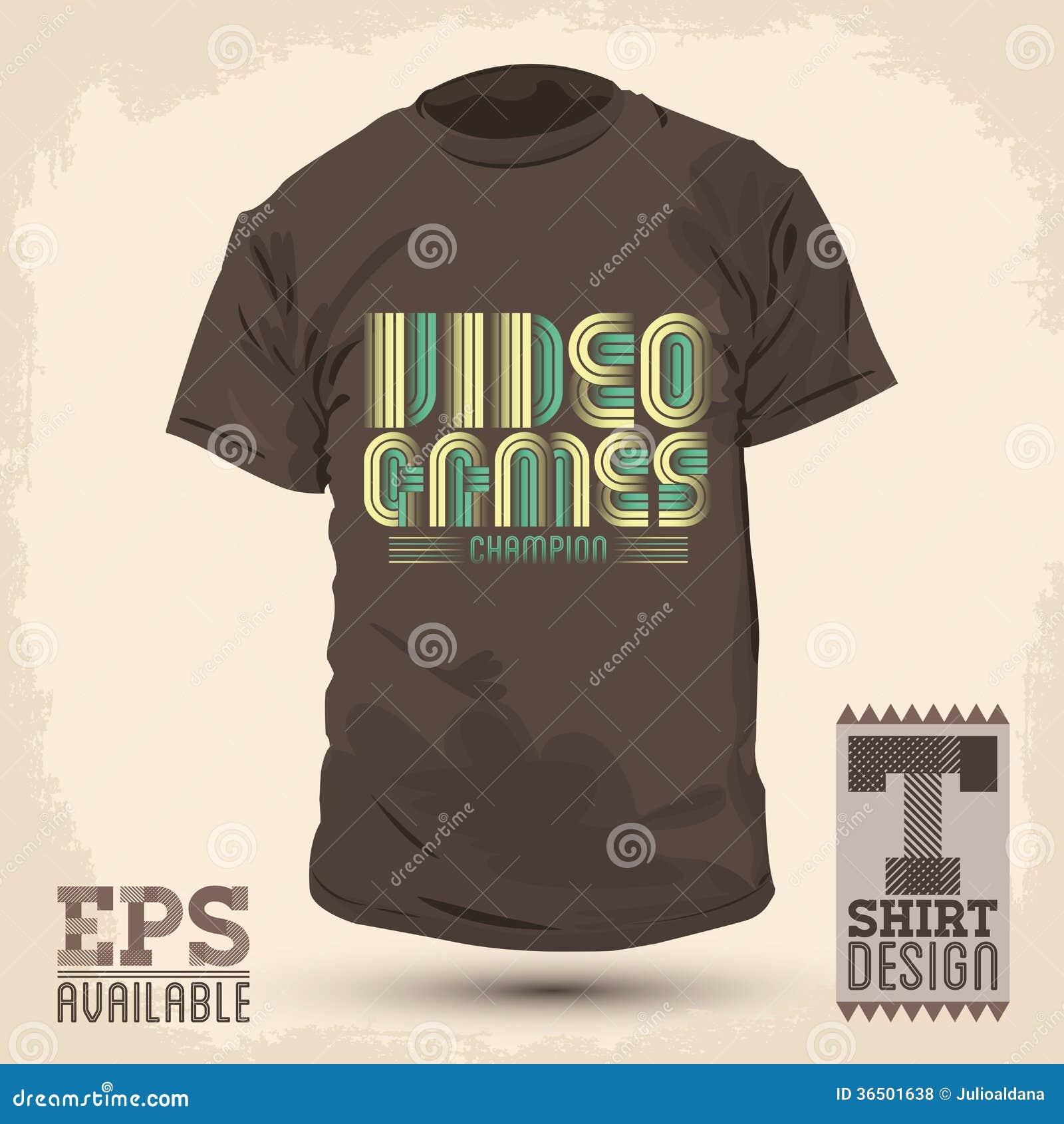 Shirt design games - Vintage Graphic T Shirt Design