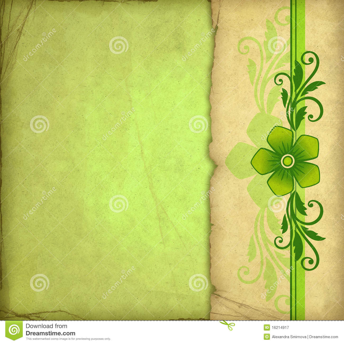 Scrapbook paper as wallpaper - Vintage Green Background Royalty Free Stock Photography