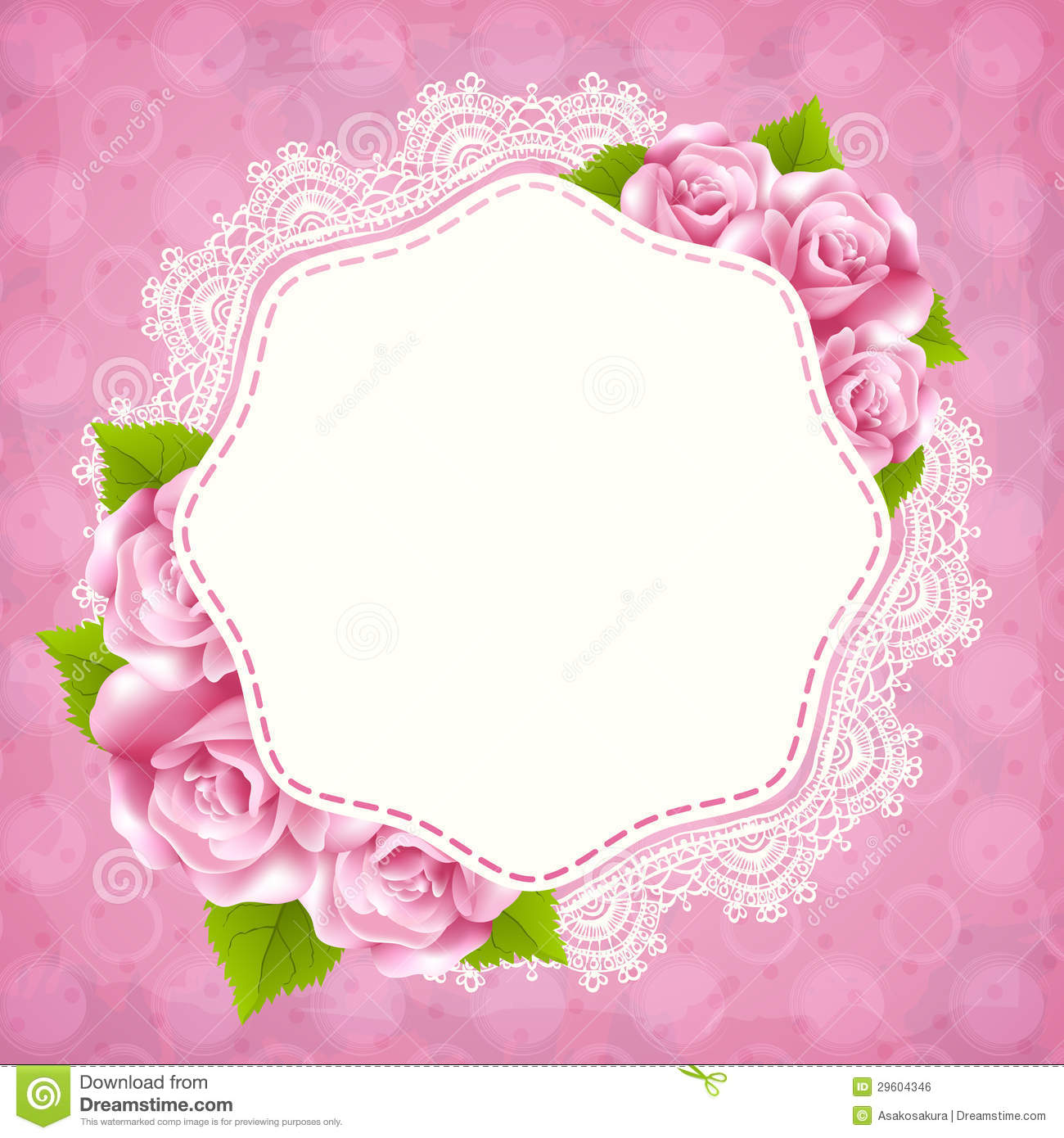 Template Greeting Card Royalty Free Stock Image: Vintage Greeting Card Template With Rose Stock Vector
