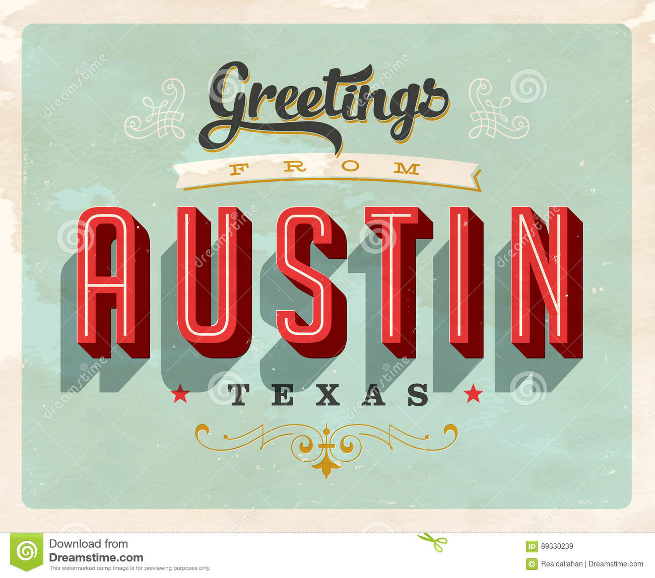 Vintage greetings from austin vacation card stock vector download vintage greetings from austin vacation card stock vector illustration of fashioned grunge m4hsunfo